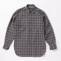 AURALEE / WOOL RECYCLE POLYESTER SHEER CHECK SHIRTS