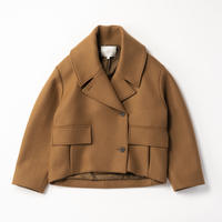STUDIO NICHOLSON/ RECYCLED WOOL CROPPED PEA COAT