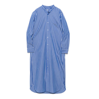Cristaseya STRIPED JAPANESE COTTON MAXI MAO SHIRT