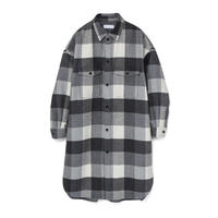 Graphpaper/Double  Faced Wool CPO Shirt Dress