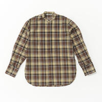 AURALEE / WOOL RECYCLE POLYESTER SHEER CLOTH STAND COLLAR SHIRT