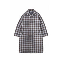 Graphpaper /Fine Wool Check Padding Bal Collar Coat