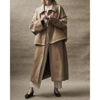 YOKE / Twill 3way Bal Collar Share Coat