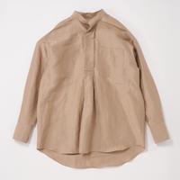 POSTELEGANT / Linen Silk Pull-Over Shirt