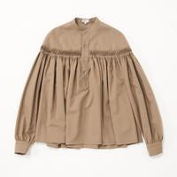 Scye/Washable Wool Tropical Tuck Half Placket Blouse