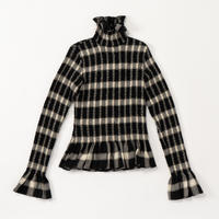 MM6 / Top Voscose Wool Gauze Checked