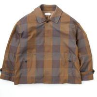 Graphpaper/ Check Gabardine Oversized Short Coat