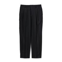 Graphpaper Wide Stripe Wool Two Tuck Slacks