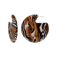 Clare Earrings in Zebra