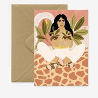 """Crazy Plant Lady"" Greeting Card"
