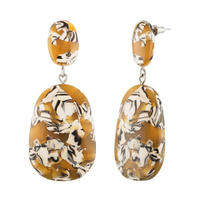 Grande Drop Earrings in Calico