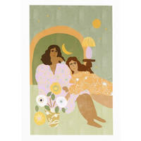 """Violet Lamp"" Art Print A4"