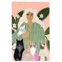 """""""Crazy Cat Lady"""" Art Print A4"""