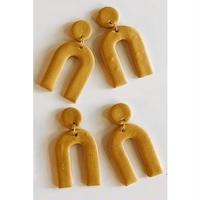Ochre Arc Earrings
