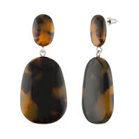 Grande Drop Earrings in Classic Tortoise
