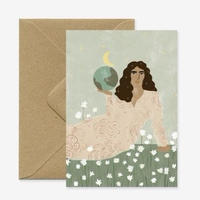 """God is a Woman"" Greeting Card"