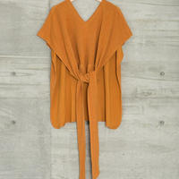 PILE BELT PONCHO in Camel