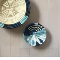 "6"" Small Silver Blue Biko Round Basket"