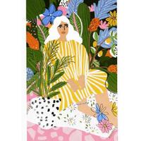 """Jungle Lady"" Art Print A4"