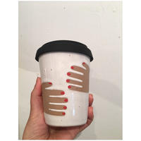 "Okay Cup ""Hug""  w/Red Nail"