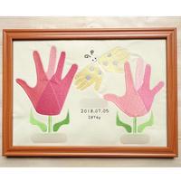 sample 刺繍手形アート(フラワー)