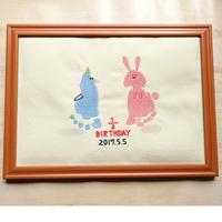 sample 刺繍足形アート(動物)