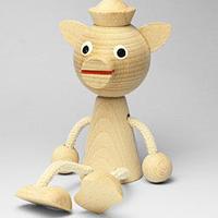 チェコおすわり人形  ナチュラルブタ MIVA