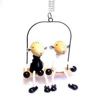 チェコおすわり人形 羊のペア・ブランコセット ABAfactory