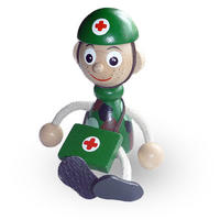チェコおすわり人形 ソルジャー・ドクター ABAfactory