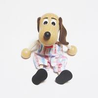 チェコの木製おすわり人形 ダックスフンドwithズボン