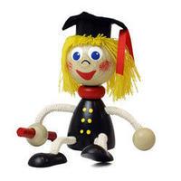 チェコおすわり人形 女学生 ABAfactory
