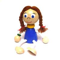 チェコおすわり人形 おさげ髪の少女 ABAfactory