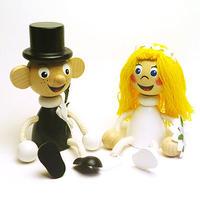 チェコのおすわり人形 花嫁&花婿ペア ABAfactory