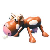 木の動物 Animal&Zooシリーズ【牛/ブラウン】チェコABAfactory社製