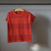 homspun 子ども用ボーダーTシャツ/オレンジxレッド