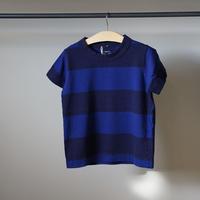 homspun 子ども用ボーダーTシャツ/ネイビーxブルー