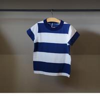 homspun 子ども用ボーダーTシャツ/ ネイビーxホワイト