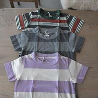 homspun 子ども用ボーダーTシャツ/130cm