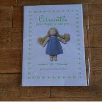 """Citronille  pour """"happy to see you""""/人形用パターン#181 """"Suzanne"""""""