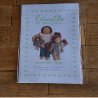 """Citronille  pour """"happy to see you""""/人形用パターン#203 """"Pauline"""""""