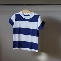 homspun 子ども用ボーダーTシャツ/ホワイトxネイビー