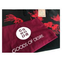 【香港☆G.O.D.】縁起物GOLDFISH ♡ 金魚柄トートバッグ  /  とても使い勝手が良いバッグです