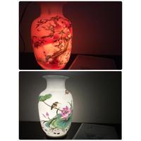 【香港☆景徳鎮】慶豐瓷荘 壺・花瓶 /  夜長に灯りとして使ってみませんか?