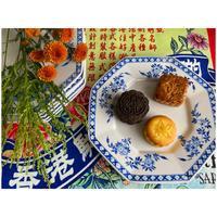 """【香港☆粵東磁廠】手書き Octagon plate 8.5""""「Blue crest」の素敵な八角中皿  / Yuet Tung China Works"""