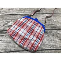 ☆Handmade☆【香港・Seon Handmade】 紅白藍口鉋・斜掛袋 /  おシャレ(笑)♡収納力◎ポシェット