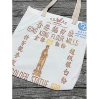 ☆Handmade☆【GOLDEN STATUE BRAND】(大)  TOTE  BAG No.20055  /  香港麵粉(マチ有り)