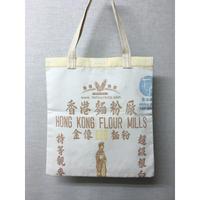☆Handmade☆【香港麵粉厰】  (大)金像マチ無しTOTE BAG No.71114  の巾着バッグ