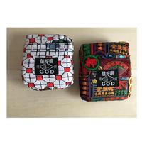 【香港☆G.O.D.】foldable shopping bag with button  /  しっかり生地 2種類有ります。