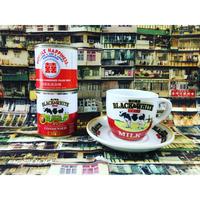 【香港☆茶餐廳食器】黑白淡奶BLACK&WHITE / 衝撃に耐えて頑張るCup & Saucer