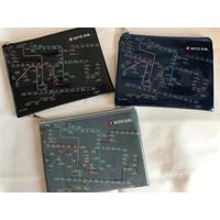 【香港☆MTR A6pouch】3色展開・MTR SYSTEM MAP柄 ポーチ / 片面半透明
